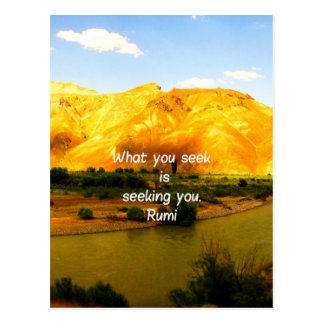 What you seek Rumi Wisdom Attraction Quotation Postcard