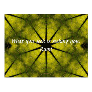 What you seek Rumi Wisdom Attraction Quotation Post Cards