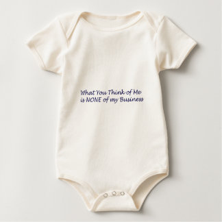What You Think of Me Products Baby Bodysuit
