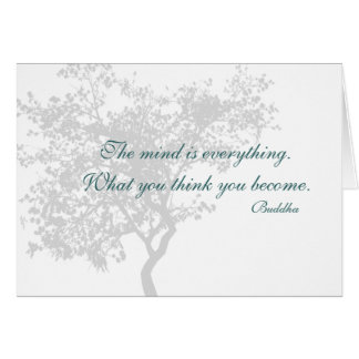 What You Think You Become Quote - Buddha Cards