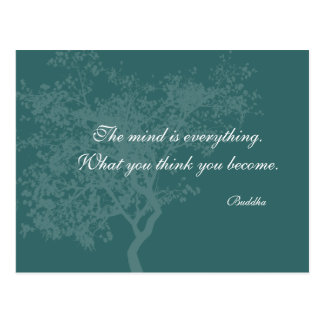 What You Think You Become Quote - Buddha PostCards