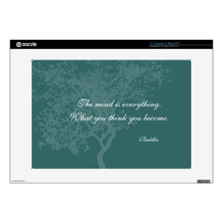 "What You Think You Become Quote - Buddha Skins Decals For 15"" Laptops"
