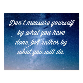 What You Will Do Quote Postcard