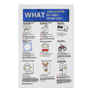 What Your Profile Pic Says About You Poster