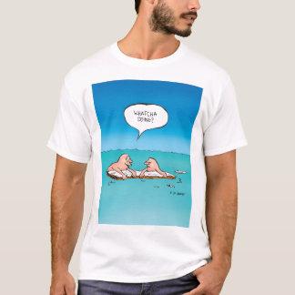 Whatcha Doing? Shipwreck Cartoon T-Shirt