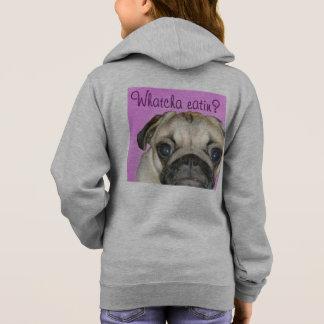 Whatcha Eatin 2 Girl's Fleece Zip Hoodie