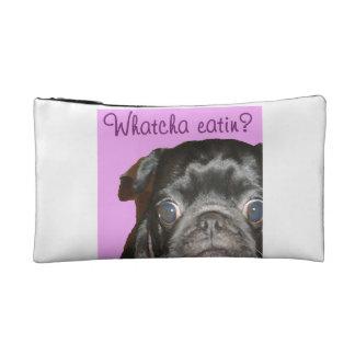 Whatcha Eatin Black Pug Cosmetic Bag