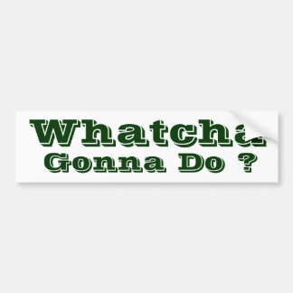 Whatcha Gonna Do ? Bumper Sticker