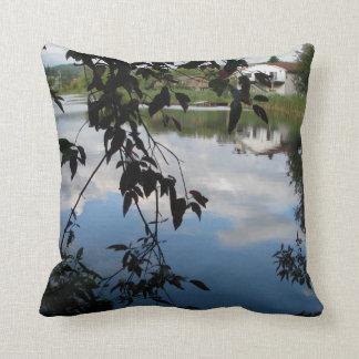 Whatcom Creek Waterway Throw Pillows