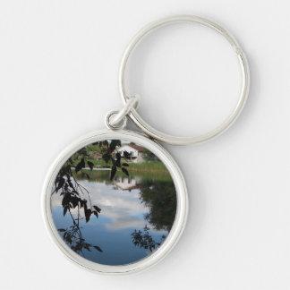 Whatcom Creek Waterway Silver-Colored Round Keychain