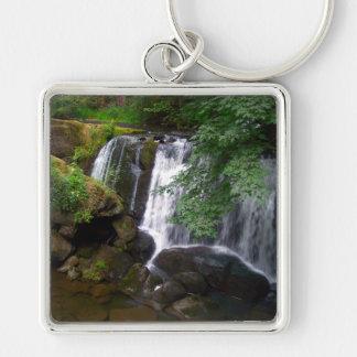 Whatcom Falls Silver-Colored Square Keychain