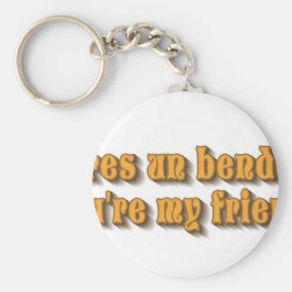 whatever basic round button keychain