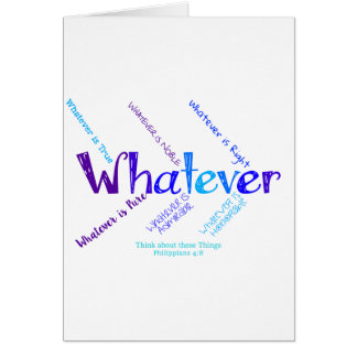 Whatever Card