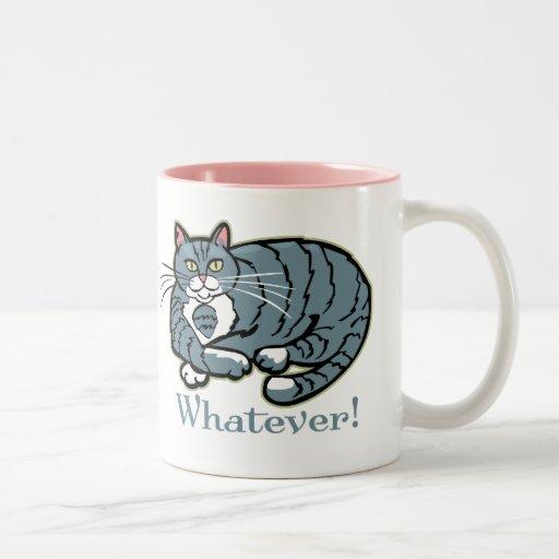 Whatever Cat Coffee Mugs