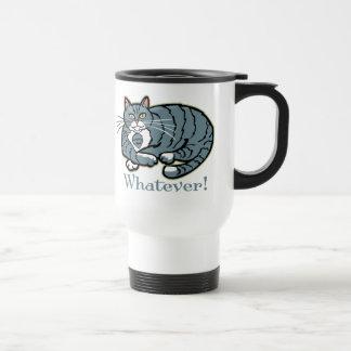 Whatever Cat Travel Mug