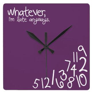 whatever square wall clocks