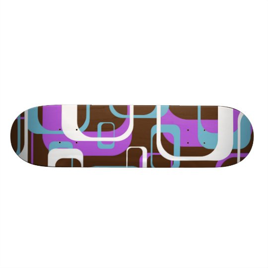 Whatever Cool Geometric Square Shapes Pattern Skateboard Deck