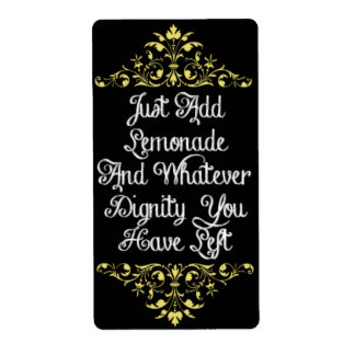 Whatever Dignity You Have Left - Wine Label Shipping Label