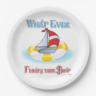 Whatever Floats Your Boat Paper Plate