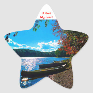 Whatever Floats Your Boat! Star Sticker