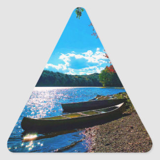 Whatever Floats Your Boat! Triangle Sticker