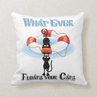 WhatEver Floats your Cats Throw Pillow