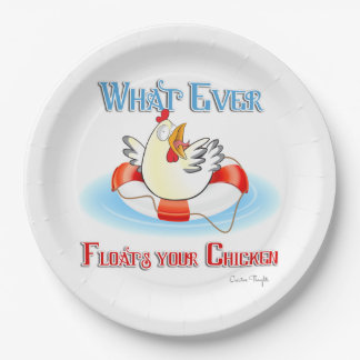 Whatever Floats Your Chicken 2 Paper Plate