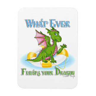 Whatever Floats Your Dragon Cute Rectangular Photo Magnet