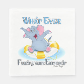 Whatever Floats your Elephant Standard Luncheon Napkin