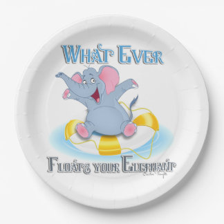 Whatever Floats your Elephant Paper Plate