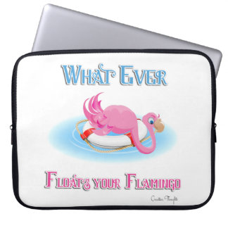 Whatever Floats Your Flamingo 3 Laptop Sleeve