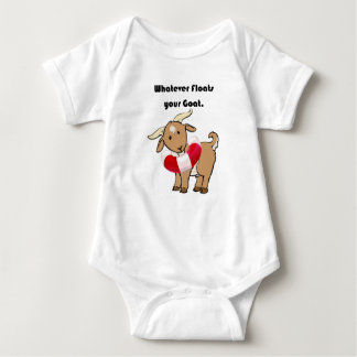 Whatever Floats your Goat Life Preserver Cartoon Baby Bodysuit