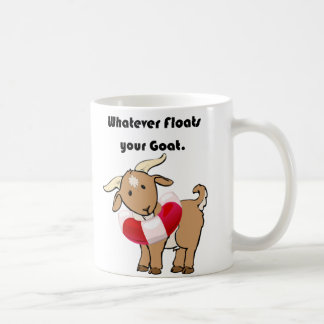 Whatever Floats your Goat Life Preserver Cartoon Coffee Mug