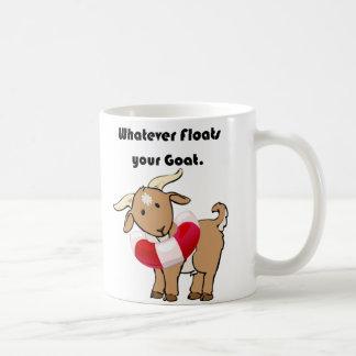 Whatever Floats your Goat Life Preserver Cartoon Coffee Mug