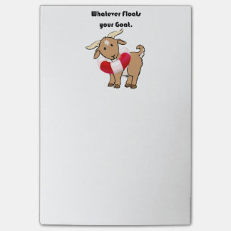Whatever Floats your Goat Life Preserver Cartoon Post-it® Notes