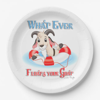 Whatever Floats Your Goat Paper Plate