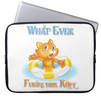 Whatever Floats Your Kitty Laptop Computer Sleeve