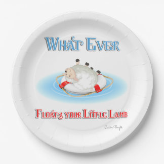 Whatever Floats Your Little Lamb Paper Plate