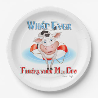 Whatever Floats Your Moo Cow 9 Inch Paper Plate