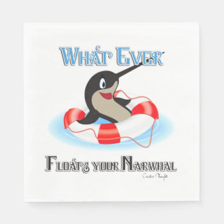 Whatever Floats your Narwhal Meme Standard Luncheon Napkin