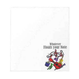 Whatever Floats your Note Design
