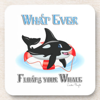 Whatever Floats Your Whale 2 Drink Coaster