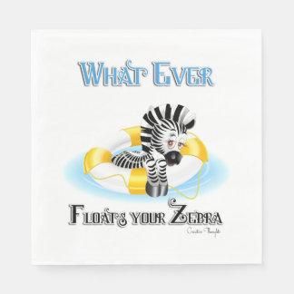 Whatever Floats Your Zebra 3 Standard Luncheon Napkin