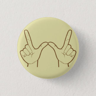 Whatever Hand Sign Retro Flair Pinback Button