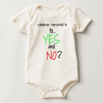 Whatever Happened to YES and No_ Finale white Baby Bodysuit