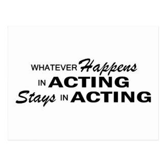 Whatever Happens - Acting Postcard