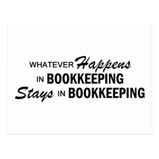 Whatever Happens -  Bookkeeping Postcard