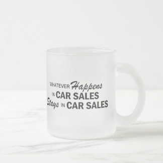 Whatever Happens - Car Sales Frosted Glass Coffee Mug
