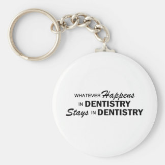 Whatever Happens - Dentistry Basic Round Button Keychain