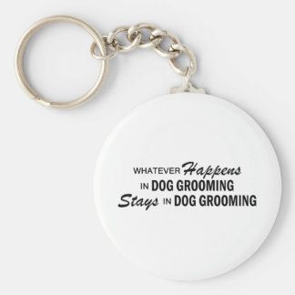 Whatever Happens - Dog Grooming Basic Round Button Keychain